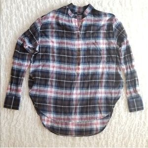 Madewell wheaton plaid shirt tunic XXS